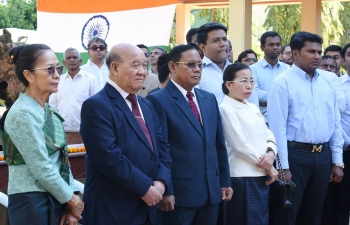Flag Hoisting Ceremony on the occasion of the 68th Republic Day of India on 26th January, 2017 at the Chancery, Vientiane.