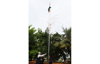 Flag Hoisting Ceremony on the occasion of 71st Independence Day of India on 15-08-2017 at the Chancery.