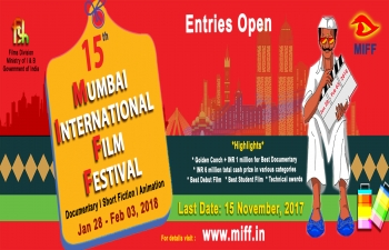 15th Edition of Mumbai International Film Festival (MIFF - 2018)