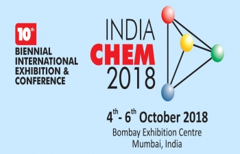 10th edition of India Chem to be held at Mumbai from October 4-6, 2018