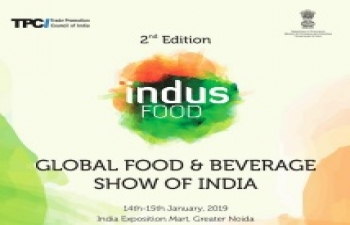 2nd edition of INDUSFOOD from 14-15 January 2019 at Greater Noida.