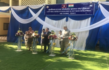 Opening of Laos-India Centre of Excellence in Software Development and Training (CESDT)
