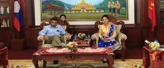 H.E. Mr. Dinkar Asthana, Ambassdor of India to Lao PDR made a courtesy call on Dr. Inlavanh Keobounphanh, President, Lao Women's Union, Vientiane on 13 September, 2019.