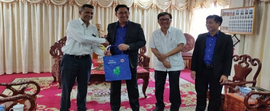 H.E. Mr. Dinkar Asthana, Ambassador of India to Lao PDR made a courtesy call on H.E. Mr. Alounxay Sounnalath, Secretary General, Lao Youth Union, Vientiane on 16 September, 2019.