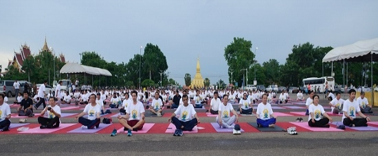 5th International Day of Yoga 2019 celebrations in Vientiane Capital on 15 June 2019