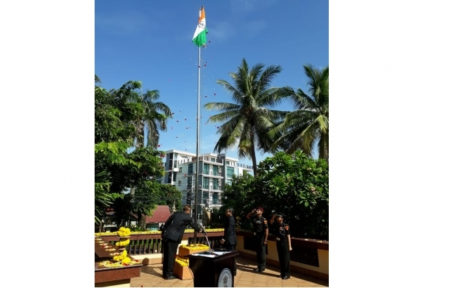 73rd Independence Day of India celebrations at the Embassy of India, Vientiane on 15 August 2019