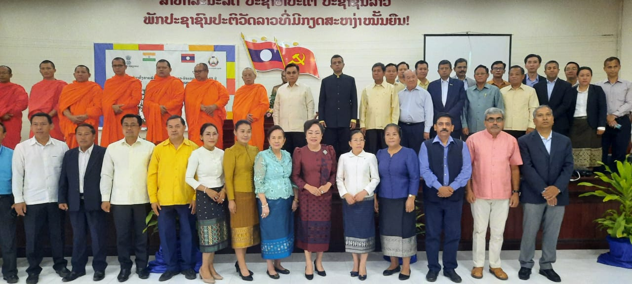 As a part of celebrations of 65th Anniversary of establishment of India-Lao PDR diplomatic relations, Embassy & Lao Front for National Development organised a talk on India-Lao PDR religious linkages on 12.03.2021